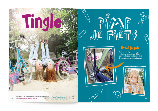 Alpina brochure kinderfietsen ontwerp