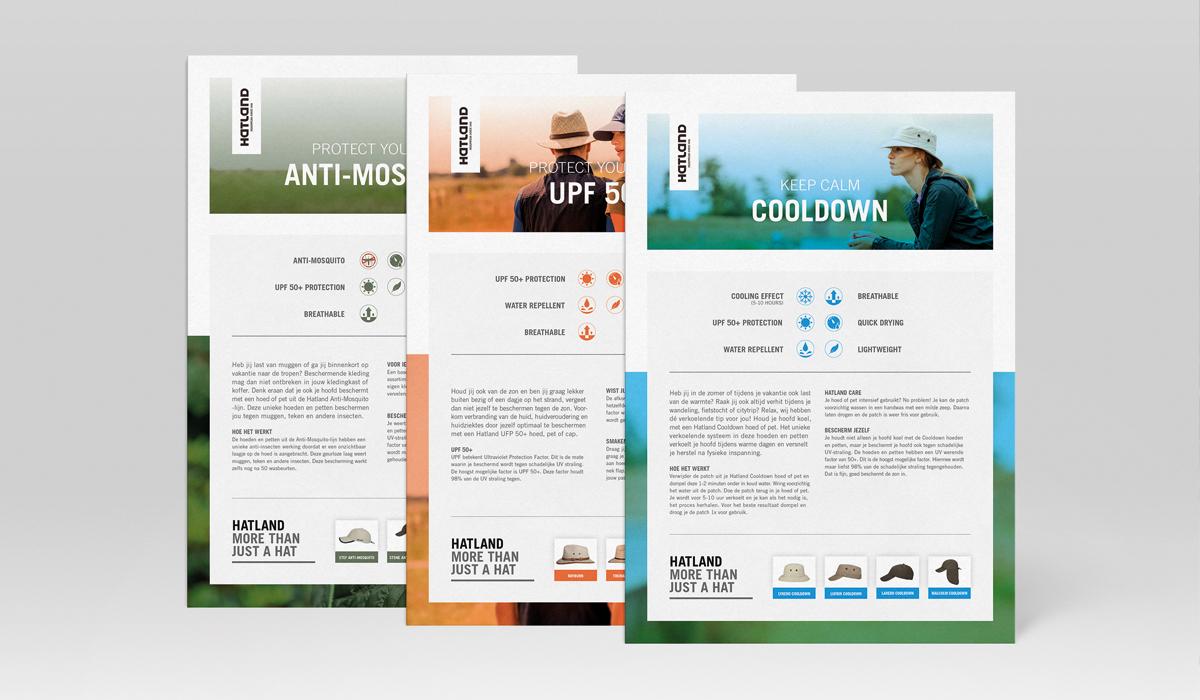 Ontwerp productsheets Hatland hoeden