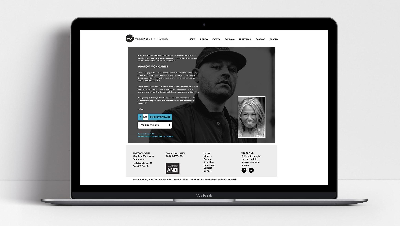 Ontwerp website stichting monicares Sticks