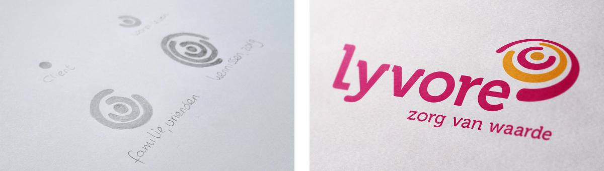 Ontwerpproces logo lyvore