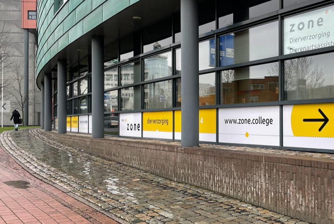 signing belettering zone.college locatie deventer